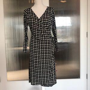 Studio M Geometric Print Wrap Dress